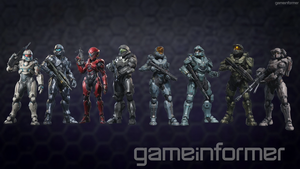 Halo 5 Guardians Playable Characters by bulletreaper117
