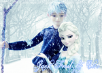 Jack Frost and Elsa by Sabbadoci0us