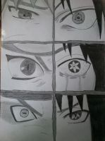 Naruto and Sasuke eyes by Haku-in-the-snow