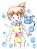 YAY Its Misty and Azurill by Satoshisgirl