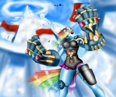 The Cloudsdale Enforcer (mlp - LoL crossover) by JackVice91