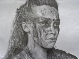 Commander Lexa by rosabelledraws