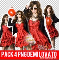 Pack 4 Png Demi Lovato. by Norgelys