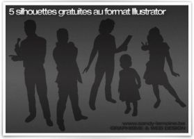 5 free illustrator silhouette by Kezako