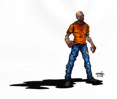 Standing Zombie Color by BillyJebens