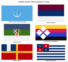 Here walk the giants - Flags by Tonio103