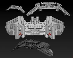 Mitsubitchi Fighter 2067 by nelson808