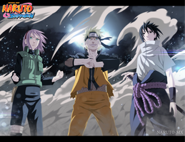 Naruto 632 - Team 7 ! by Tremblax