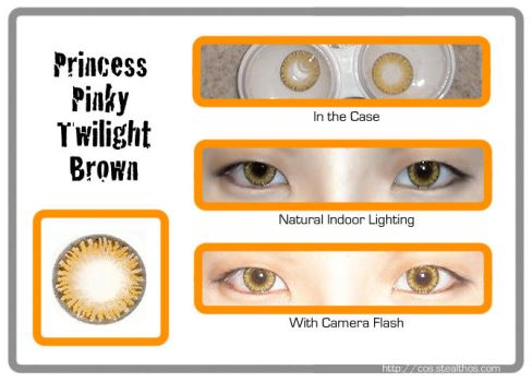 Princess Pinky Twilight Brown circle lenses by Stealthos-Aurion