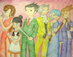 Ace Attorney and Clue by still-a-fan