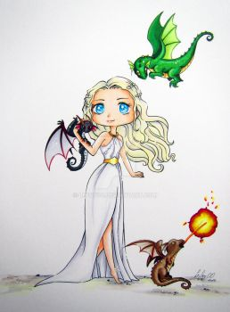 Daenerys Drawing by LeFay00