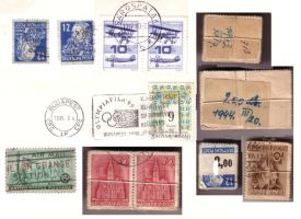 Postage stamps by semireal-stock