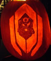 Cerberus Atlas Badass Pumpkin Carving by RebelATS