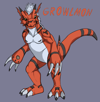 Growlmon by JadeRavenwing