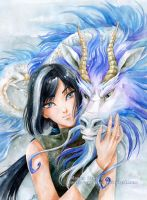 blue dragon by Maria-Sandary