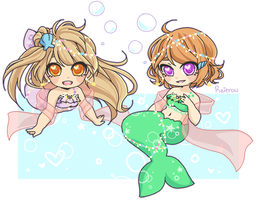 Mermaid Babes by Reitrou