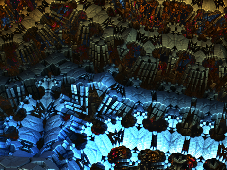 A Fractal Canyon by singingwithfractals