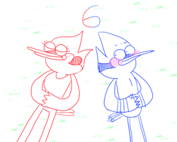 Mordecai and Margaret by OysteIce