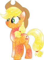 Galaxy Applejack by DigiTeku