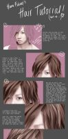 Realistic Hair Tutorial. by hanafubukiart