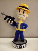 Vault-tec Bobblehead (hat and gun) by Mrsroppa