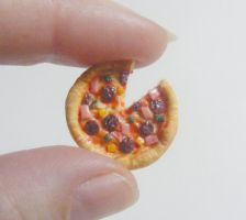 pizza tie pin  from NeatEats by rhonda4066