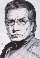 """Admiral William Adama"" by pichulin"