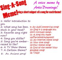 Sing-a-long meme by ArtieDrawings