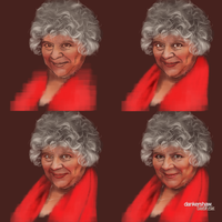 Miriam Margolyes #Process by dankershaw