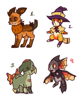 Halloween Adopts! -CLOSED- Auction omg by Manic-Bunny