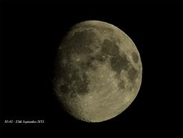 Tonight's Moon - not quite Full just yet ! by taramara