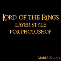 Lord of the Rings Layer Style by mardukrules