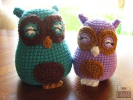 Happy Amigurumi Owls by PosiPlush