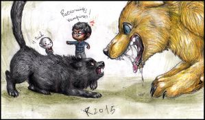 Webcomic battle - Vampires vs Werewolves by FuriarossaAndMimma