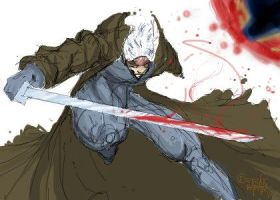 MGS4 Raiden by NoBullet