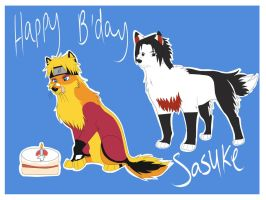 Waruto: Happy B'day Sasuke by LonewolfshadowUchiha