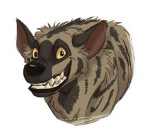 Striped Hyena Lion Kingized by louli9559