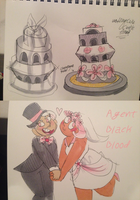 Wedding cake power couple by AgentBlackBlood
