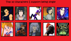 Top 10: Characters I think should remain single by The-PirateQueen