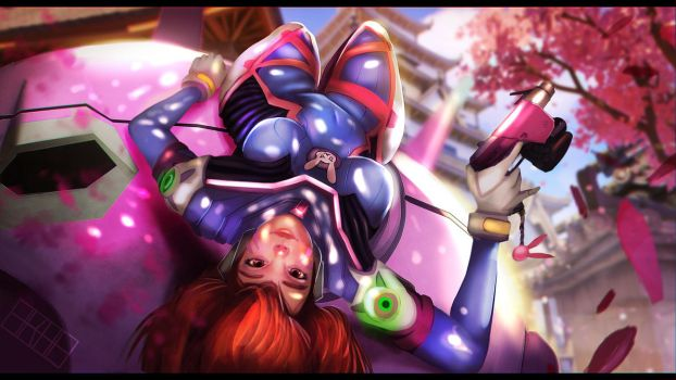 D.Va and her Meka by 4kh4