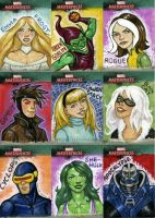 Marvel Sketch Cards-2 by feliciacano