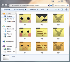 Pokemon Chu! Set 1 of 2 Folder Icons by cloudyrei