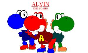 Alvin and the Yoshis by Koopa-Master