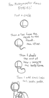 MickeyMonster's crappy pony tutorial by Mickeymonster
