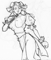 Winter Sketchbook - Chun Li by LMJWorks