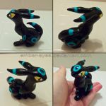 Shiny Umbreon Sculpt by Ember-Eyes