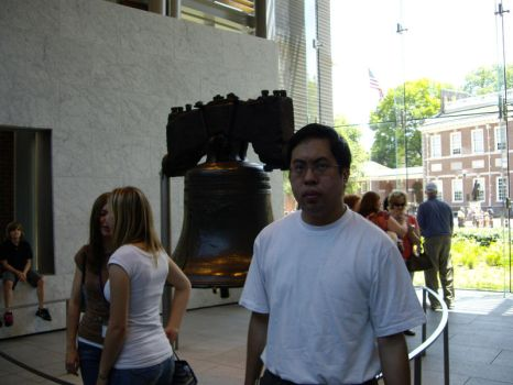 Myself and the Liberty Bell by pmaster77