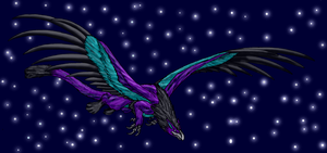 Aurash Night Flight by Scatha-the-Worm