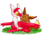 Ruby and the little Latias by FuwaKiwi
