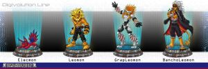 Dwc 2012   Digivolution Line Elecmon by Lord-Evell